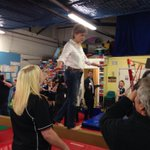 Nicola S succeeds with potentially disastrous photo-op, balancing on narrow beam. Love to see other leaders do it! http://t.co/wyqvfu2H7y