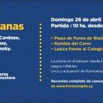 Hoy Montevideo se viste de rojo, azul y blanco! Con @Virginia_MVD @Dmartinez_uy y @TopolanskyLucia #VotáFA http://t.co/5H6uKnHub3