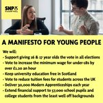 Today we launched our Youth Manifesto to support and empower young people #VoteSNP #GE15 http://t.co/H4bU0txiQY