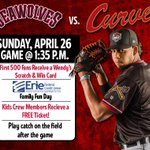 A sunny Sunday in #Erie with a 1:35 First Pitch. Bring your glove to play catch on the field! http://t.co/9SjRcBggVX http://t.co/eGkHiIevgw