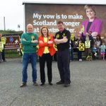 Some balancing act, @NicolaSturgeon on the Border, at John OGroats and doing gymnastics. All at once! #GE15 #voteSNP http://t.co/YJzjav9WS5