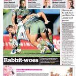 Todays @smh Sport cover: Rabbitohs skinned in Cairns @MCarayannis http://t.co/x82nf36fyS http://t.co/juXfnkMQsM