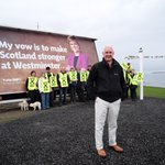 The #activeSNP vans continue touring Scotland, in John OGroats with #GE15 candidate @_PaulMonaghan and team #voteSNP http://t.co/43MLXffZdc