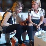 @VarinaDeCesare y @annasofiaok en la carpa de @adidasUY en la #MaratonMontevideo http://t.co/07qz4VTlzb