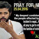 RT @SreesanthFans: We all pray to god to strgthn the families of victims #PrayForNepal @sreesanth36 @SreesanthFans