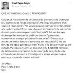 ¡Que no panda el CÚNICO financiero! #Ecuador http://t.co/slbRKubgmL