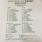 RT @Arsenal: Here are your confirmed teams for #AFCvCFC... http://t.co/IXZ4DWUYk9