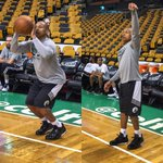 Isaiah Thomas of the @Celtics hits the floor early to warm up for #CAVSvCELTICS Game 4, 1pm/et on ABC. http://t.co/feUZIbrSi4