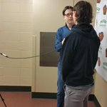 .@Aaron_Cooney hard at work getting pre-game interviews done with @patfellows #erie http://t.co/wDr3KNrtJJ