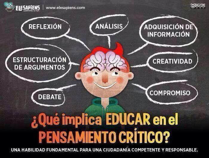 RT @AnaiLorente: Educar en el pensamiento crítico via @elesapiens http://t.co/7vlkf3FdCN