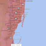 Temperatures in the low 90s already late this AM in S. FL. #Miami will threaten its daily record high of 93 degrees. http://t.co/LIEEuNIej1