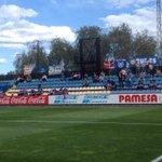 Prop duna cinquantena daficionats blaus animen lequip a Vila-real al crit de Lleida, Lleida!. 0-0 (28) http://t.co/4ByipUd2TD