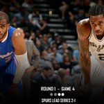 HALF: Spurs trail Clippers 51-47. http://t.co/TpO2wPeJeA
