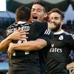FT: Celta 2-4 Real Madrid (Kroos 15; Chicharito 24 and 69; James Rodríguez 43 / Nolito 9; Santi Mina 28). http://t.co/4T7Gys5L1F