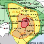 Parts of Central Texas have been upgraded to moderate risk, highest risk weve had this year. Be weather aware today! http://t.co/lXqoBeRATQ