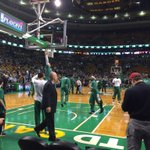 @celtics getting ready. Time to push this series to a game 5. #WBZ http://t.co/9ksQASU2gm