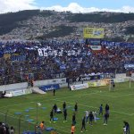 Más de 6000 azules en Chillogallo @Emelec vs Aucas #86añosdeGloria #Feliz86Emelec http://t.co/gPnZwgZ5yF