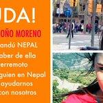 Con esta imagen en redes sociales buscan ubicar a Daniela Londoño Moreno, colombiana desaparecida en Nepal. http://t.co/xOsP7WpPYl