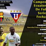 Hoy en vivo escucha todos los acontecimientos del encuentro por #campeonatoNacional #BSC vs #LDUQ en @RadioHuancavilk http://t.co/HU07tHqq7g