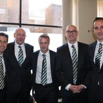 Some of the coaches with hat-trick hero @Leighgriff09 #CelticPOY (NM) http://t.co/T8Cch9LBOM