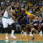 After a chippy first half, the Cavs lead the Celtics 57-36 LeBron James: 13 Pts, 5 Reb, 6 Ast http://t.co/SO25m6644O