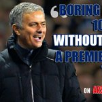 Arsenal fans called Chelsea boring. Jose Mourinho responded with this. SAVAGE ???????????? http://t.co/6oqsCveYWR