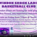 """@SwindonWeb """"@ShockLadies: looking for new players, training happening over the summer, TBA #SWINDON please RT http://t.co/76cxRy9L2S"""""""