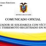 #Ecuador se solidariza con las víctimas del potente terremoto de #Nepal @CancilleriaEc ►http://t.co/rN980eWiAt http://t.co/9olDRxEKBR