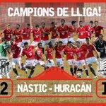 La victòria del @NASTICTARRAGONA per 2 a 1 contra l@huracanvalencia lha fet campió del grup 3 de 2aB. Lenhorabona! http://t.co/Yws6hIiBpv