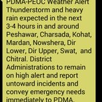 """Another weather warning """"High Alert"""" issued by the Disaster Management Authority for the next few hours. #KP http://t.co/41pVCRYDKE"""
