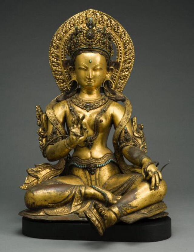 Thoughts go out to #NepalEarthquake. Here's Nepalese Green Tara, the enlightened being representing active compassion http://t.co/pXIopje5Jc