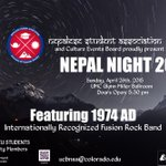 Celebrate Nepalese culture with @NSA_UCB tonight & help with #NepalEarthquake relief - http://t.co/MMqXlWfKkQ http://t.co/UkTC9ym8Kr