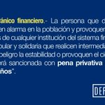 Recordar que pánico financiero está penado por la ley #Ecuador http://t.co/VtzsBVqfOW http://t.co/zxxRRx4QTA