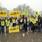 Snowbody better than my brilliant campaign team - out in all weathers today in Dyce, Bridge of Don & Inverurie #SNP http://t.co/UhjzU6lps9