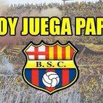 HOY JUEGA EL ÍDOLO DEL ECUADOR @BarcelonaSCweb @LuigiMB http://t.co/RFD74tHbOE