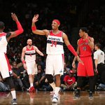 Wizards sweep Raptors. The last time Washington swept a series in the playoffs? They were the Bullets. http://t.co/A88wrV3ap6