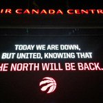 A somber but optimistic message for fans in Jurassic Park after the @Raptors were swept by Washington. #WeTheNorth http://t.co/JqpmIPYCF6