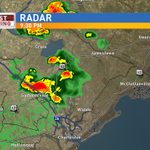 Rain quickly moving through Berkeley county and headed into northern Charleston county next. #chswx #SCWX http://t.co/O9zGESuA7q