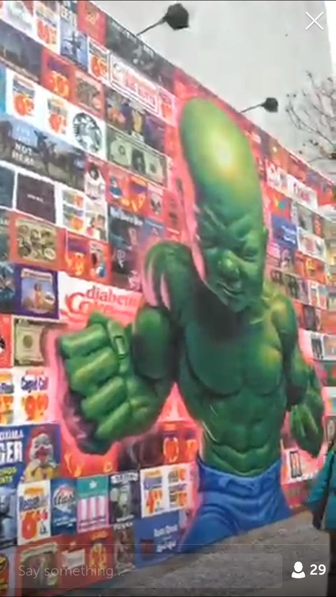 Cool street art wall in NYC. Thanks @travelinglens for taking us on the walk. #Periscope http://t.co/hTWAb8v8xF