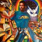 Love this! RT @realericeckhoff: @levarburton Here's a painting a buddy of mine just made for an 80s show.