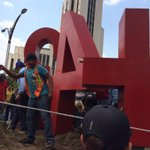 """El """"antimonumento"""" por los 43 que somos todos. #Ayotzinapa7Meses http://t.co/9IbhcksgU3"""