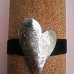 Handmade sterling silver heart bracelet fits any size by JabberDuck http://t.co/OWbsPFKa0v http://t.co/sIypFOzu0A