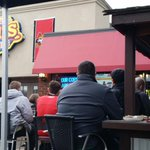8 degrees and no f*cks given by #Ottawa fans. Packed patio @StLouisElgin Go #Sens Go! http://t.co/3EP5g2bWwZ