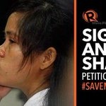 SIGN THE PETITION: Join global action to #SaveMaryJane - http://t.co/U4lUnL8onC via @rapplerid http://t.co/SzK7w3fnsN