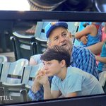 The Director of Fun (Bill Murray) hanging out in the lower level seats at @ChasRiverDogs http://t.co/p5vbUCvsmK