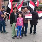 Yemeni-is protesting in #Germany for a second day against Saudi airstrikes on #Yemen http://t.co/QJcDr1Id91