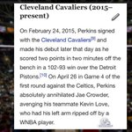 Cleveland @cavs Kendrick Perkins Wikipedia page temporarily updated http://t.co/ltJ4TeDyXf | via @TimothyRearden http://t.co/fqNht23Is2