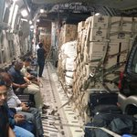 #IndiaWithNepal 22 tonnes of food packets, 120 large oxygen cylinders moved yesterday. More enroute today morning. http://t.co/X8grPrm8Eo