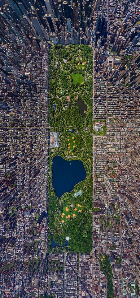 Aerial View of Central Park, New York http://t.co/iYQ7BqQ2m4