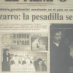 #EnPantalla → #CarlosPizarro sale moribundo del avión en el que le dispararon. Muere minutos después. http://t.co/cQ6gnRUqyP